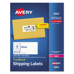 AVE5963 - Avery® Shipping Labels with TrueBlock™ Technology