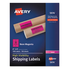 AVE5974 - Avery® Neon Shipping Label