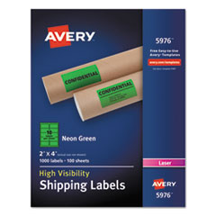 AVE5976 - Avery® Neon Shipping Label