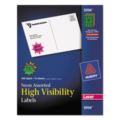 AVE5994 - Avery® High-Visibility Labels