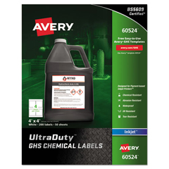 AVE60524 - UltraDuty™ GHS Labels for Hazardous Materials and Workplace Safety