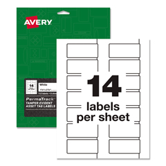 AVE60536 - Avery® PermaTrack® Tamper-Evident Asset Tag Labels