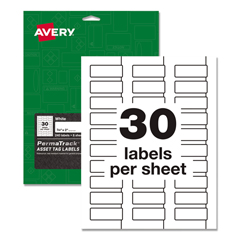 AVE61526 - Avery® PermaTrack® Durable White Asset Tag Labels