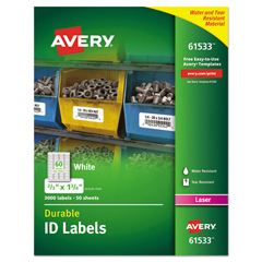 AVE61533 - Avery® Durable Permanent ID Labels with TrueBlock® Technology