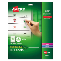 AVE6450 - Avery® Removable Multi-Use ID Labels