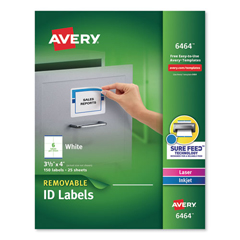 AVE6464 - Avery® Removable Self-Adhesive ID Labels