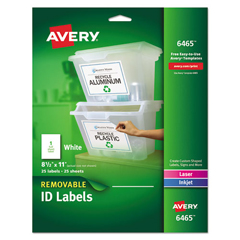 AVE6465 - Avery® Removable Self-Adhesive ID Labels