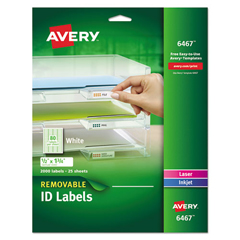 AVE6467 - Avery® Removable Self-Adhesive ID Labels