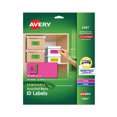 AVE6481 - Avery® Removable Self-Adhesive Color-Coding Labels