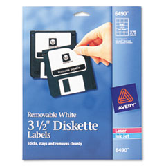 AVE6490 - Avery® Self-Adhesive Diskette Labels for Laser/Inkjet Printers