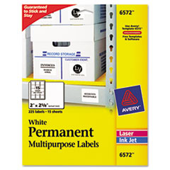 AVE6572 - Avery® Permanent Durable ID Labels