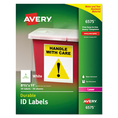 AVE6575 - Avery® Permanent Durable ID Labels