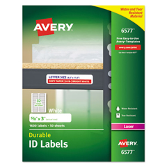 AVE6577 - Avery® Permanent Durable ID Labels