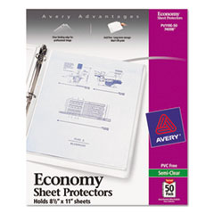 AVE74098 - Avery® Top Loading Standard Weight Sheet Protector