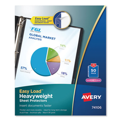 AVE74106 - Avery® Diamond Clear Easy Load Sheet Protector