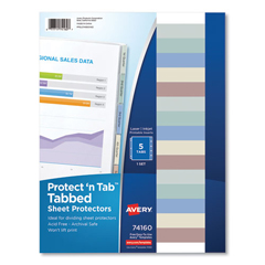 AVE74160 - Avery® Protect n Tab™ Top Loading Sheet Protector