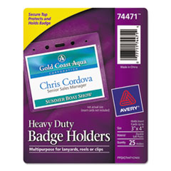 AVE74471 - Avery® Heavy-Duty Top Load Name Badge Holders