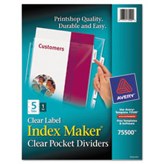 AVE75500 - Avery® Index Maker® Pocket Label Dividers