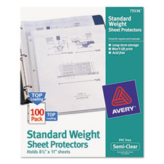 AVE75536 - Avery® Top Loading Standard Weight Sheet Protector
