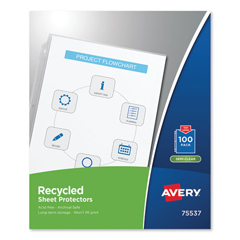 AVE75537 - Avery® Recycled Polypropylene Sheet Protector