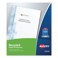 AVE75539 - Avery® Recycled Polypropylene Sheet Protector