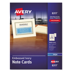 AVE8317 - Avery® Embossed Note Cards with Envelopes
