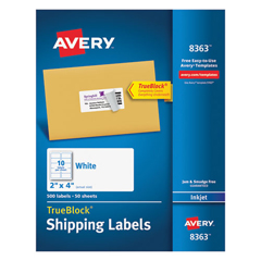 AVE8363 - Avery® Shipping Labels with TrueBlock™ Technology