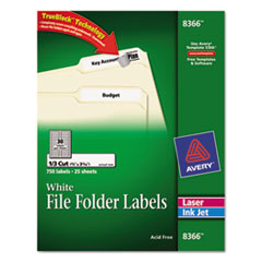 AVE8366 - Avery® Permanent File Folder Labels with TrueBlock™ Technology