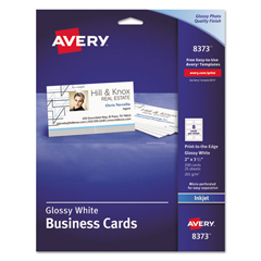 AVE8373 - Avery® Inkjet Glossy Photo Quality Business Cards