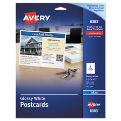 AVE8383 - Avery® Glossy Photo Quality Postcards
