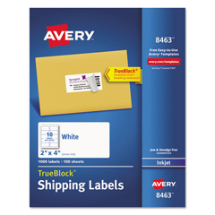 AVE8463 - Avery® Shipping Labels with TrueBlock™ Technology