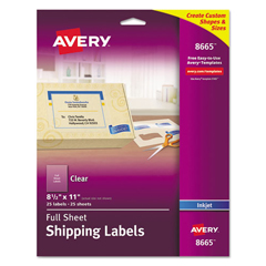 AVE8665 - Avery® Permaneny Adhesive Full-Sheet Labels