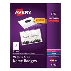 AVE8780 - Avery® Magnetic Style Name Badge Kit