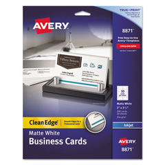 AVE8871 - Avery® 2-Side Printable Clean Edge® Business Cards
