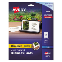 AVE8873 - Avery® Linen-Textured 2-Side Printable Clean Edge® Business Cards