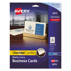 AVE8876 - Avery® 2-Side Printable Clean Edge® Business Cards