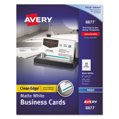 AVE8877 - Avery® 2-Side Printable Clean Edge® Business Cards
