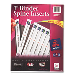 AVE89103 - Avery® Custom Binder Spine Inserts