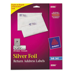 AVE8986 - Avery® Foil Mailing Labels
