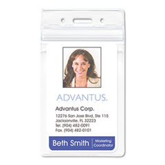 AVT75524 - Advantus® Resealable ID Badge Holders