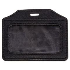 AVT76340 - Advantus® Leather-Look Badge Holder
