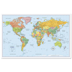 AVTRM528012754 - Rand McNally Signature World Wall Map