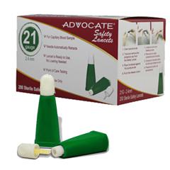 PHA634 - Pharma Supply - Advocate® Safety Lancets 21G x 2.4mm