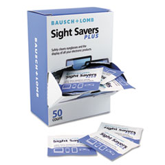 BAL628041 - Bausch & Lomb Sight Savers PLUS Pre-Moistened Electronic Cleaning Tissues