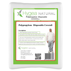 BBGCOVERALLS-XL - Hygea Natural - Polypropylene Disposable Protection Coveralls - 5 Pack