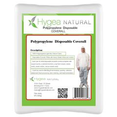 BBGCOVERALLS-XL - Hygea NaturalPolypropylene Disposable Protection Coveralls - 5 Pack