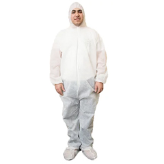 BBGCOVERALLS-XXL - Hygea NaturalPolypropylene Disposable Protection Coveralls - 5 Pack