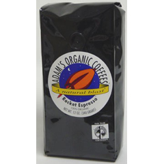BFG55006 - Adams Organic CoffeesFair Trade Rocket Espresso Coffee
