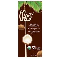 BFG04678 - Theo ChocolateDark Chocolate Bar with Toasted Coconut