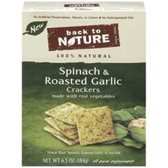 BFG89618 - Back To NatureSpinach & Roasted Garlic Crackers